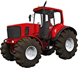 "6"" Red Farm Tractor #1 Wall Sticker Decal Graphic Art Childrens Toy Play Room Heavy Machinery Outdoors Game Man Cave Bedroom Office Living Room Decor NEW"