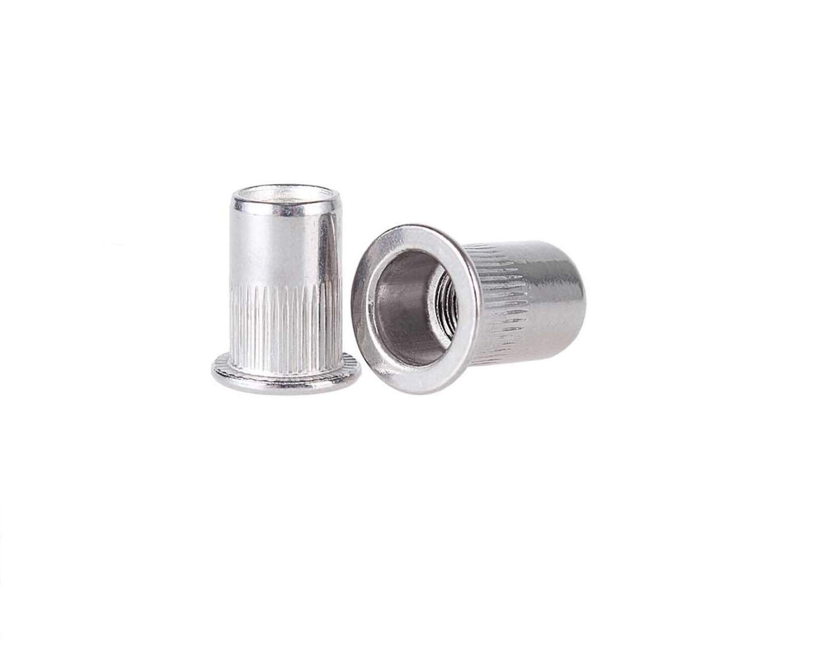 ees.Stainless Steel 304 Rivet Nut Rivnut Insert Nutsert - #8-32 UNC Nuts Qty. 50Pcs.