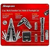Snap-On 3pc Multi-Function Tool, Knife & Flashlight Set