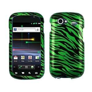 Quaroth Green Black Zebra Snap on Design Hard Case Faceplate for Samsung Nexus S I9020