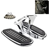 Passenger Floorboards Chromed Streamline Footboards Mount Bracket Kits for Touring Models Road King Street Glide 1993-2016