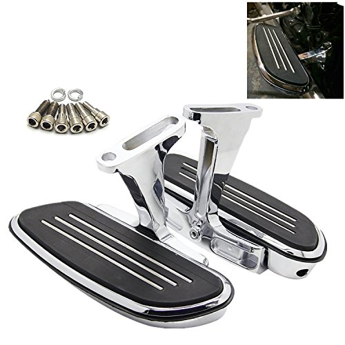 Passenger Floorboards Chromed Streamline Footboards Mount Bracket Kits for Touring Models Road King Street Glide 1993-2018 (Kit Mount Floor)