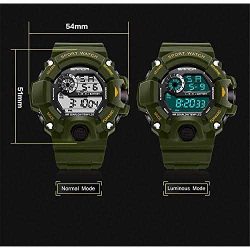 Wdnba Mens Watch Quartz Watches Military Watch Fashion Dive Men's Sport LED Digital Watch