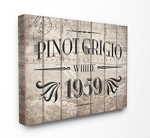 The Stupell Home Decor Collection Pinot Grigio Barrel Label Wine Kitchen, 16