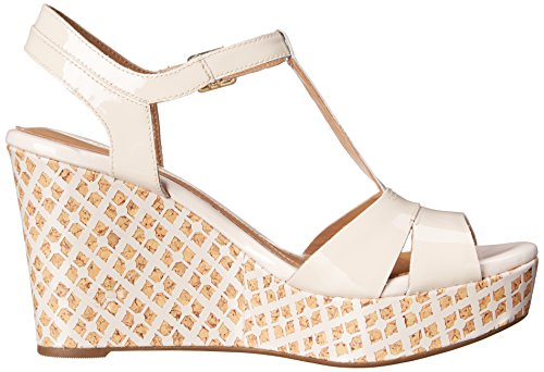 Clarks Women's Amelia Roma Wedge Sandal Pink Patent Hpz8ZyU