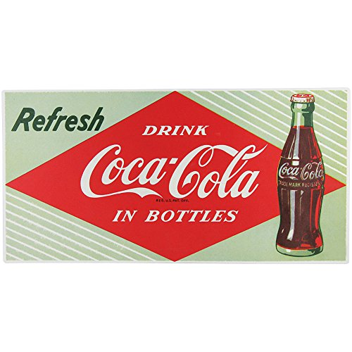 Coke Refresh Fountain (Refresh Drink Coca Cola In Bottles Tin Sign - 18