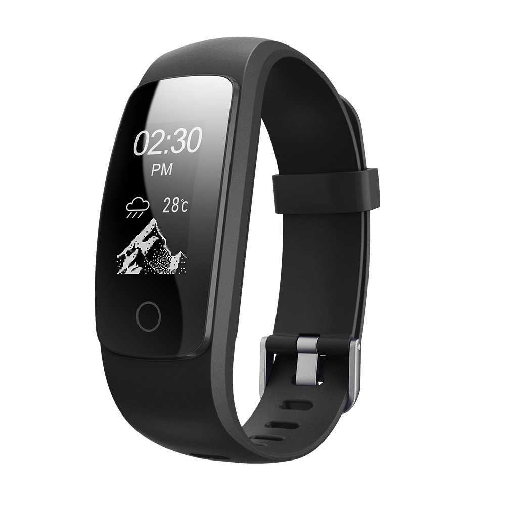 Gentman ID107 Plus HR Smart Wristband Activity Tracker 0.96 in OLED Screen Sleep Heart Rate Monitor Calorie Counter Pedometer Sport Bracelet for iOS Android
