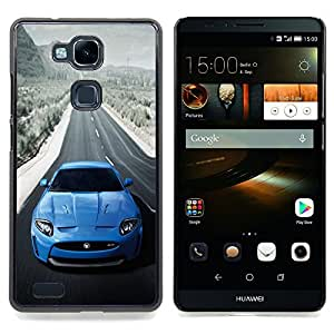 BLUE JAG XKR SEXY CAR Caja protectora de pl¨¢stico duro Dise?ado King Case For HUAWEI Ascend Mate 7