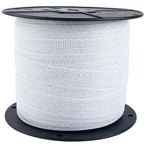 Zareba Electric Fence Heavy-Duty White Poly Tape - 656 Feet x 1.5 Inch PTW6