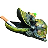 Fivebop Creative Cigar Ashtray Animal Resin Ash Tray for Cigarette Home Coffee Table Bar Decorations (Turtle)