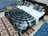 Shibori Bohemian Doona Duvet Cover, Tie Dye Quilt Cover, Comforter Set Blanket Cover Mandala Duvet Doona Cover with Pillowcases