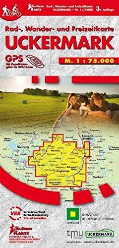 Uckermark: Rad-, Wander- und Freizeitkarte, Maßstab 1:75.000