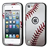 Wydan Compatible Case for iPod Touch 7th 6th 5th Heavy Duty High Impact Armor Cover Protective Tuff Verge Case for iPod Touch 5 6 7 Generation Baseball for Apple