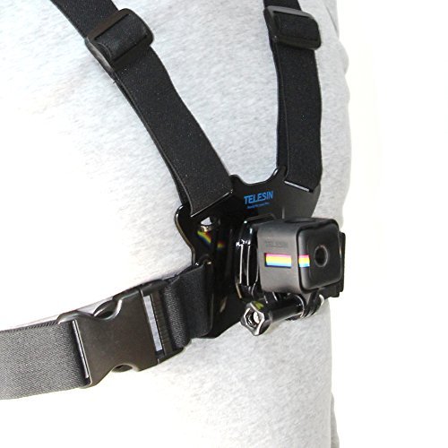 TELESIN New Arrival Chest Belt Strap with Frame Mount Adapter for Polaroid Cube and Cube+ Action Camera Accessories