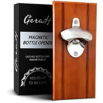 Magnetic/Wall-Mounted Beverage Bottle Opener with Bottle Cap Catcher for No-Mess Convenience - Easy to Hang and Fun to Use - Bonus eBook and Hardware Included - Premium Quality-Perfect Christmas Gift