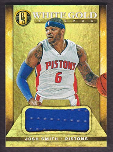 2014-15 Panini Gold Standard Basketball White Gold Jersey #13 Josh Smith 14/49 Detroit ()