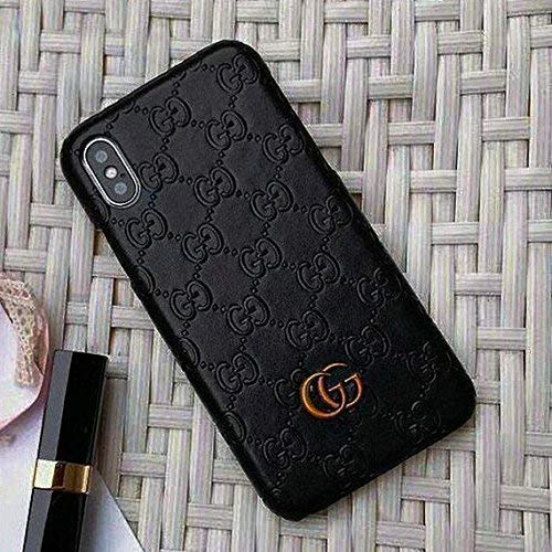 iPhone X Case, Black Premium PU Luxury Stylish Designer Fashion Leather Cover Case for iPhone X (Black) (Black1) (Beige) (Beige)