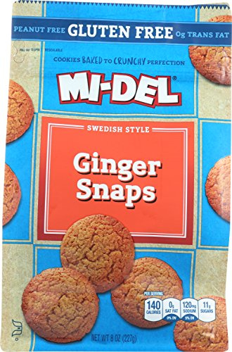 Mi-Del Gluten Free Cookies, Swedish Ginger Snaps, 8 Ounce (Best Ginger Snaps)