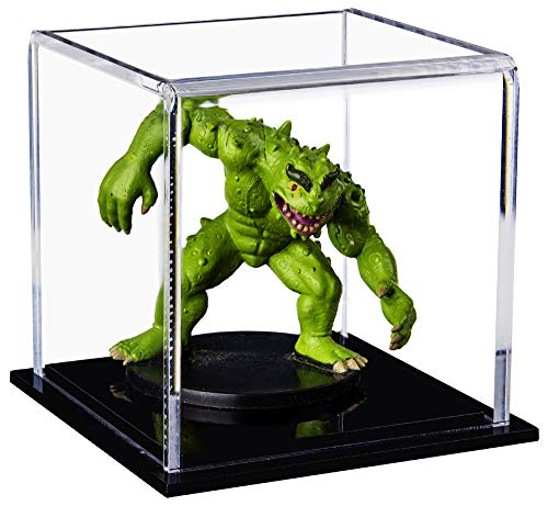 3 Inch Collectible - Better Display Cases Versatile Acrylic Display Case, Cube, Dust Cover or Riser with Black Base 3
