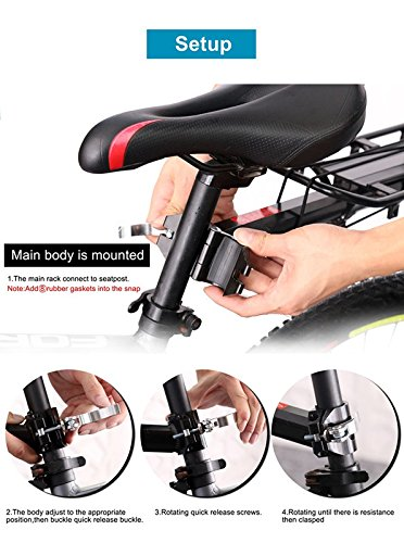 COMINGFIT Upgrade 110 Lb Capacity Aluminium Carrier Rear Bicycle Pannier Full Quick Release Rack with Reflector by COMINGFIT (Image #5)