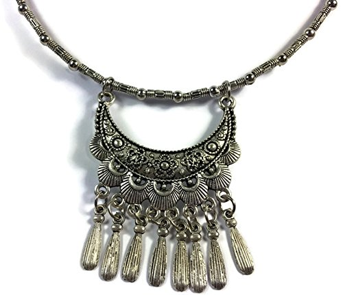Thai Rhodium Necklace For Women (Circle, 16 inches)