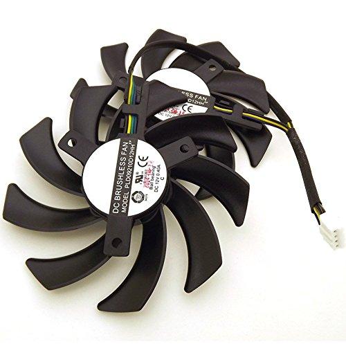 PLD09210D12HH DC 12V 0.40A 85mm 4wire 4pin For XFX R9 270 280 290 380 Cooling Fan by Z.N.Z (Image #2)