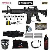 full auto paintball - Tippmann U.S. Army Alpha Black Elite Tactical w/ E-Grip Specialist Paintball Gun Package - Black