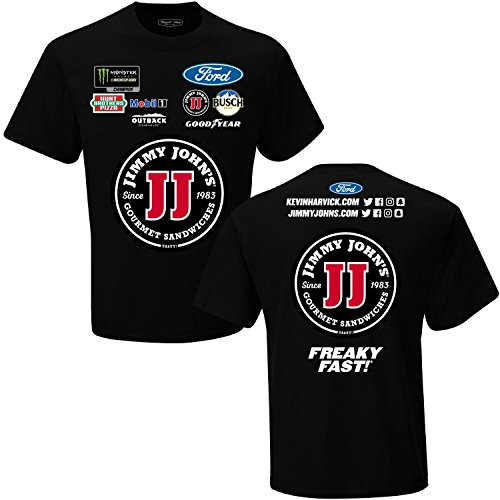 Checkered Flag Kevin Harvick 2018 Jimmy Johns Uniform Nascar T Shirt  Xxxlarge