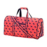 Our High Fashion Print polyester bag features an inside lining with a padded laptop compartment. Use this awesome duffle bag to take all of your belongings for overnight trips, sporting events, grandma's house, and even use it as a carry on b...