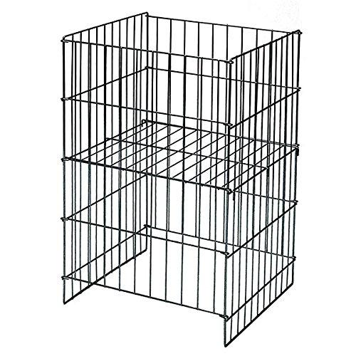 2 Pc New Black Wire Dump Basket w/Adjustable Shelf 18''wx17''dx30''h by Wire Dump Basket
