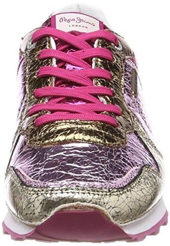 Ginnastica Verona da Cracked Pepe Jeans Basse Pink Scarpe Donna W Factory Rosa AwYwq7x54