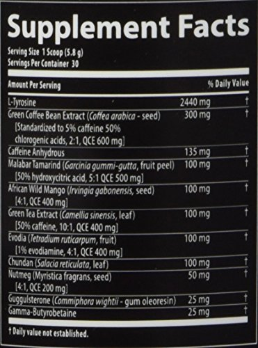 Nutrabolics Thermal XTC Peach Mango Powder - Super Thermogenic Fat Burner for Energy and Focus (30 Servings) 174 grams