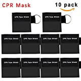 CPR Mask, One-way Valve Emergency Face Shields Rescue Baby and Adult Cpr Pocket Mask for First Aid, Cpr Mask Keychain, Lanting(10 Packs)