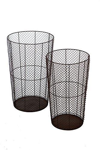Vagabond Vintage, Set of Two Round Wire Baskets