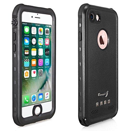 Alienwork Schutzhülle für iPhone 7/8 geeignet für Fingerabdruck Hülle Case Bumper Wasserdicht Staubdicht Schneedicht Plastik schwarz AP705-01