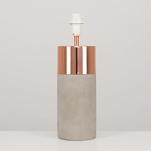 Modern cement stone copper effect cylinder table lamp base modern cement stone copper effect cylinder table lamp base mozeypictures Image collections