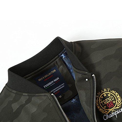 Uomini Tendenza Giacca Dimagrimento Di Elegante xxxl Verde Camouflage Coreana Militare Versione Uomo Camicia xBFqwHxrYT