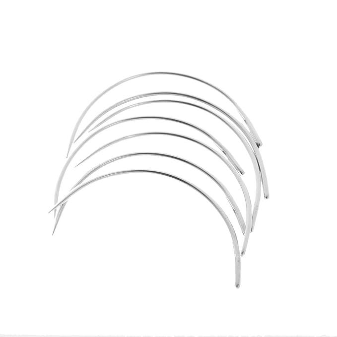 25x Agujas Para coser A Mano Tipo C Agujas Colchón Curva Aguja Tapicería Establecer - Plata, 3.4cm: Amazon.es: Hogar