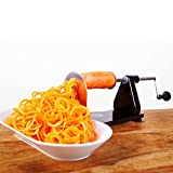 vegetable spiral slicer parts - ICO 4-Blade Spiralizer Vegetable Slicer, Stronger than all Plastic Spiralizers with 3 Interchangeable Blades and 1 Built-In, Black
