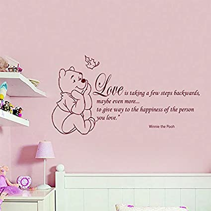 Wall Decals Quote Winnie Pooh Love Happiness Home Wall Art