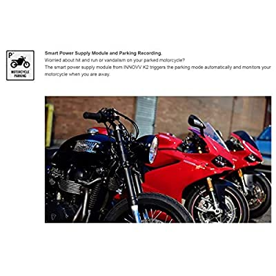 INNOVV K2 Dual Channel Motorcyle Motocam with WiFi, GPS and Parking Mode (No SD Card): Car Electronics