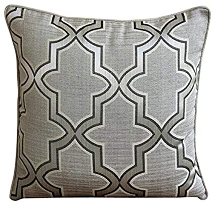 Amazoncom Handmade 22x22 Throw Pillow Covers Grey Decorative