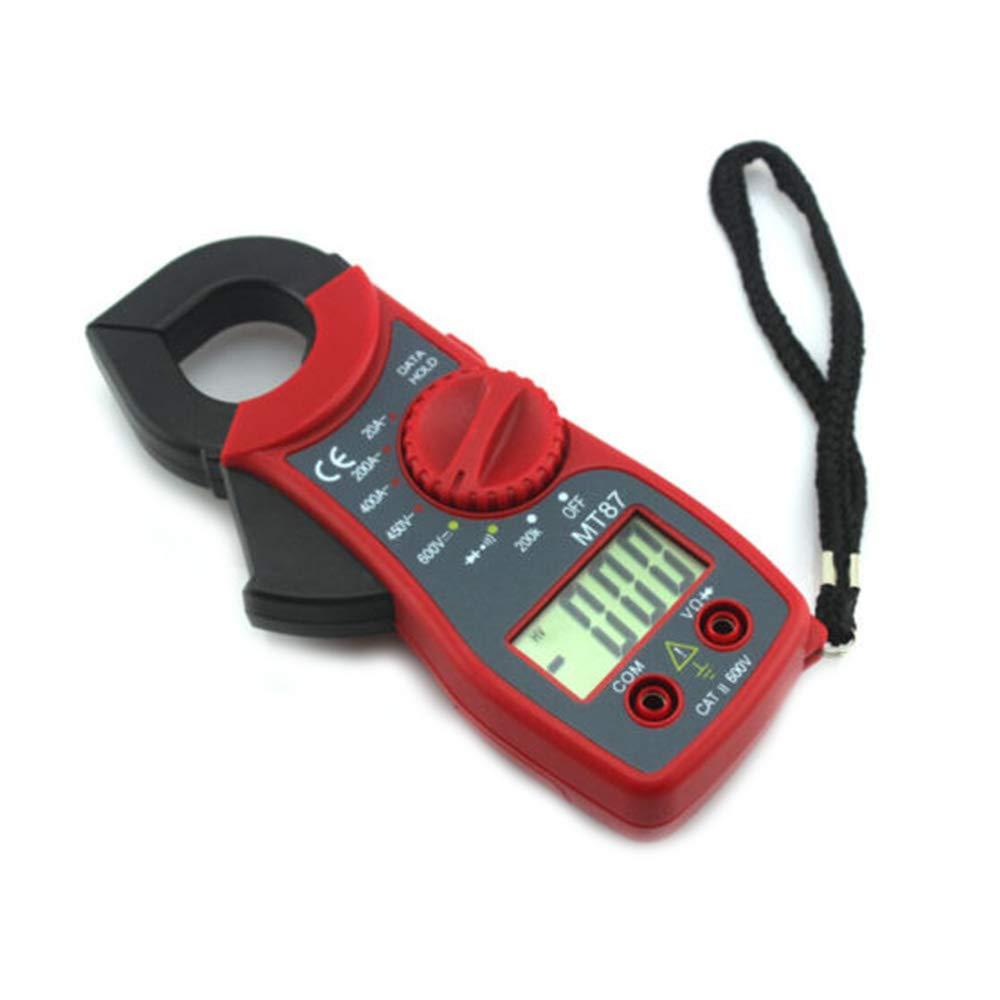 ReFaXi Medidor de Pinza Digital Mult/ímetros Voltio Amperio Ohm AC//DC Volt/ímetro Probadores de Resistencia de Corriente MT87 Amarillo