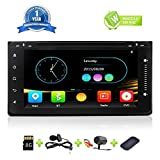 Car Stereo Bluetooth HD Radio Double Din In Dash GPS Navigation for Toyota Universal 6.95 Inch Full Touch Screen Car DVD CD Player Head Unit With Bluetooth Mirror Link Backup Camera SD Card