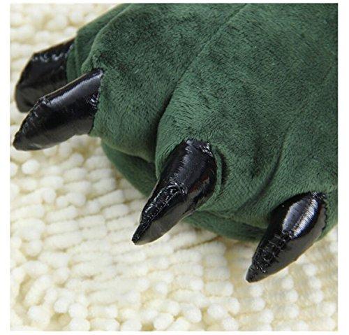 panda supermarket  The Dinosaur Claws Cotton Slippers, Damen Hausschuhe Grün