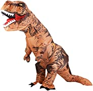 Lulu Home Halloween Inflatable Dinosaur Costume for Adult, White & Black,