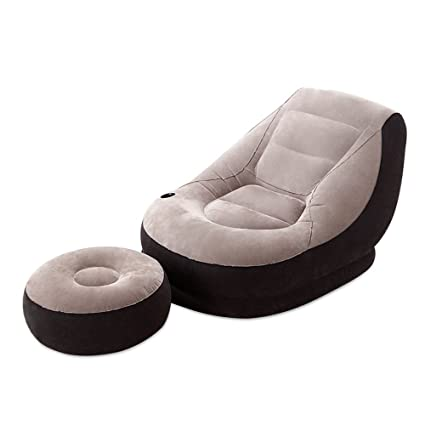 Outstanding Amazon Com Zhirong Inflatable Deluxe Lounge Lounger 1 Creativecarmelina Interior Chair Design Creativecarmelinacom