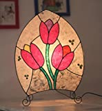 Lamp with tulips