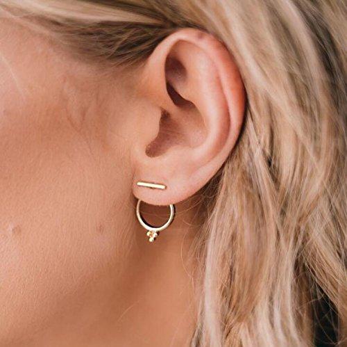 Vintage Womens Earring - CanB Vintage Gold Geometry Hoop Ear Studs Earrings for Women Girls