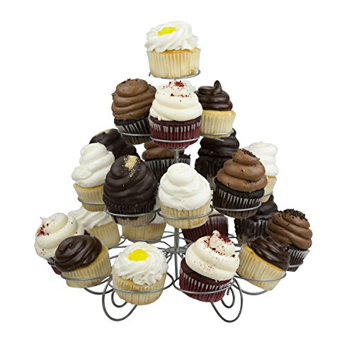 - Home Basics 23 Cupcake or Muffin Centerpiece Holder Stand, 3 Tier